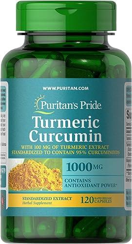 Turmeric Curcumin by Puritan s Pride, 1000mg, 120 Rapid Release Capsules
