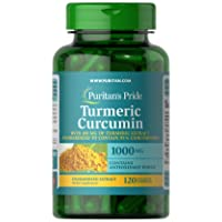Turmeric Curcumin by Puritan's Pride, 1000mg, 120 Rapid Release Capsules