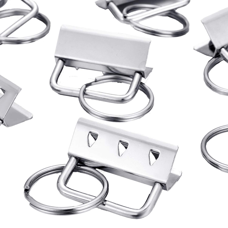 Iycorish 40 Teilige Schl/üSsel Ring Hardware Schl/üSsel Bund Armband Hardware mit Lanyard Schl/üSsel Ring