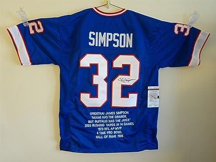 827e62f4c8a ... coupon o.j. simpson signed auto buffalo bills blue stat jersey jsa  autographed 6ef0f efce3