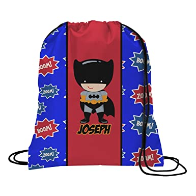 Amazon.com | Superhero Drawstring Backpack (Personalized ...