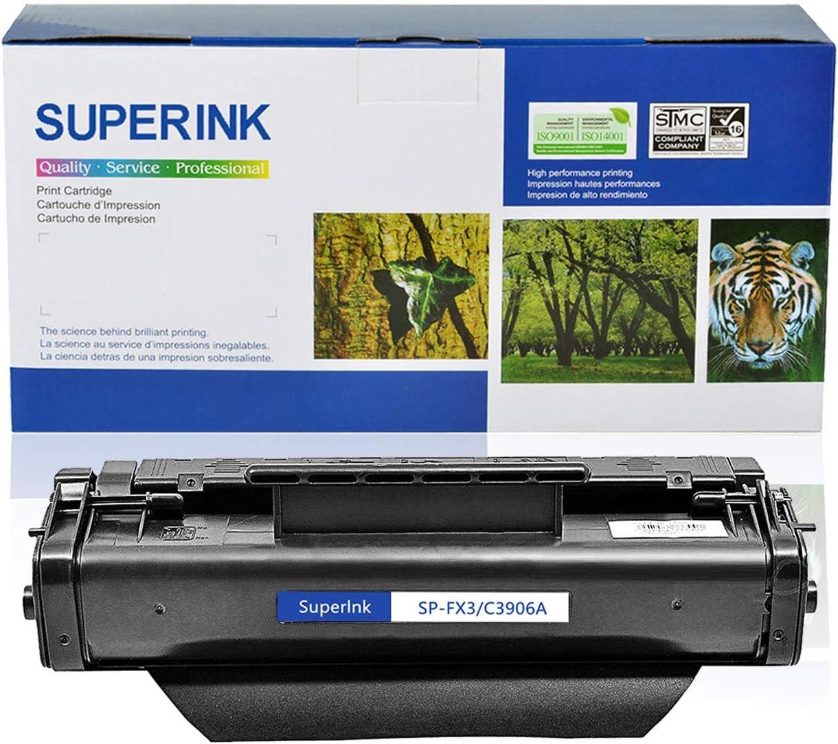 SuperInk 1 Pack Compatible Toner Cartridge Replacement for HP 06A C3906A Black use in Laserjet 5L, 5L Xtra, 5L-FS, 6L 6Lse 6Lxi 3100 3100se 3100xi 3150 3150se 3150xi Printer