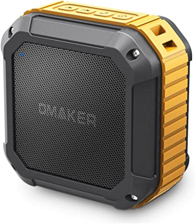 Omaker Waterproof Bluetooth Speaker, Outdoor Wireless Portable Speaker with  EQ Modes and TWS, Bluetooth 100.10 with 10W Audio Driver for Outdoor, Beach,