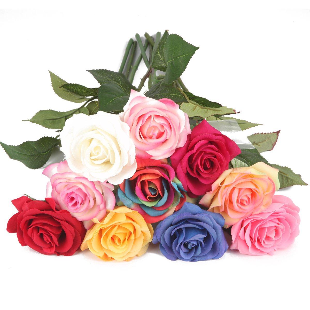 Amazon Louis Garden Silk Rose 17 Artificial Flowers As Natural