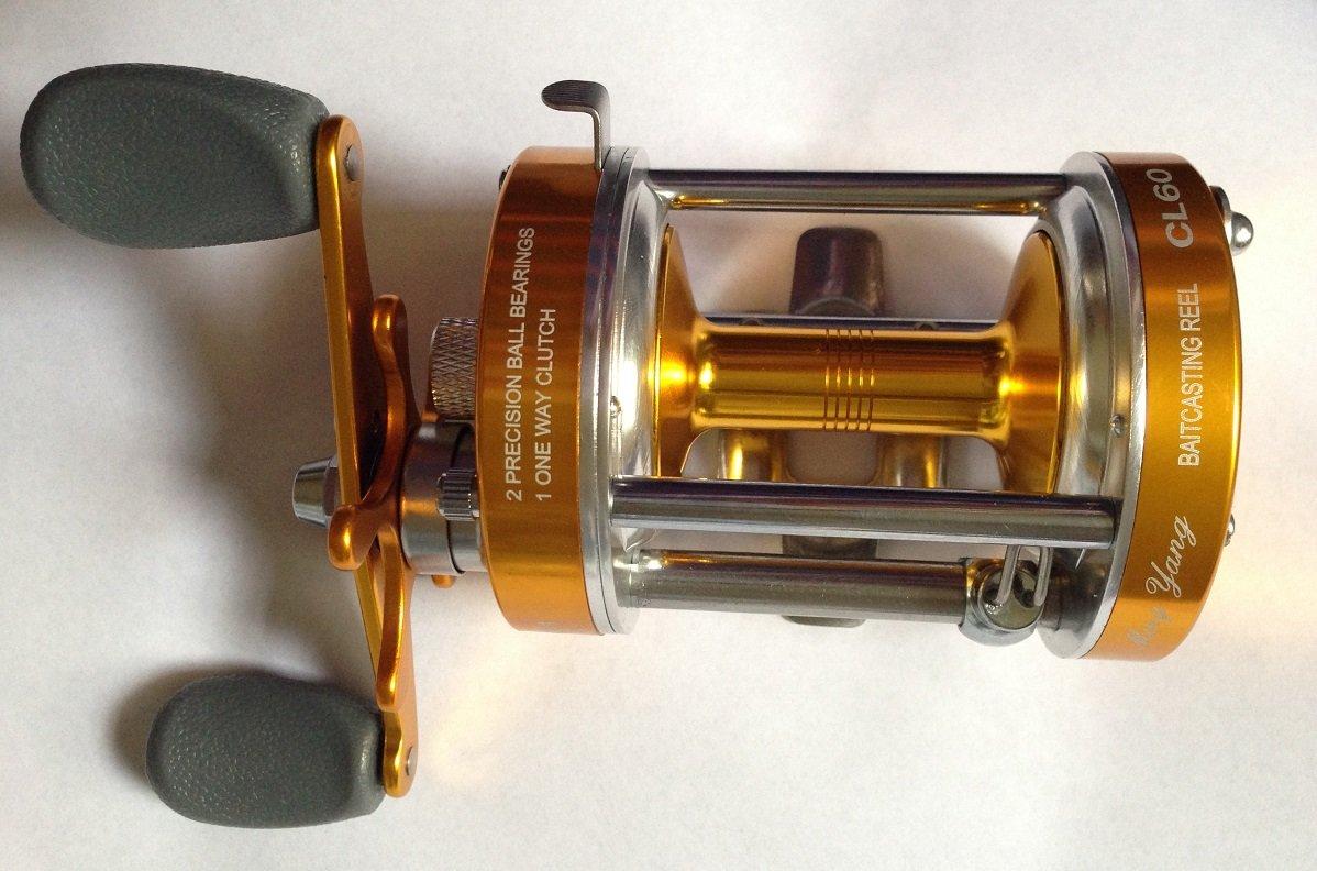 Ming Yangリールcl60ゴールドLeft Handed BaitcastingリールOffshore釣りナマズ2 BBギア比4.2 : 1   B01H4SSWFU