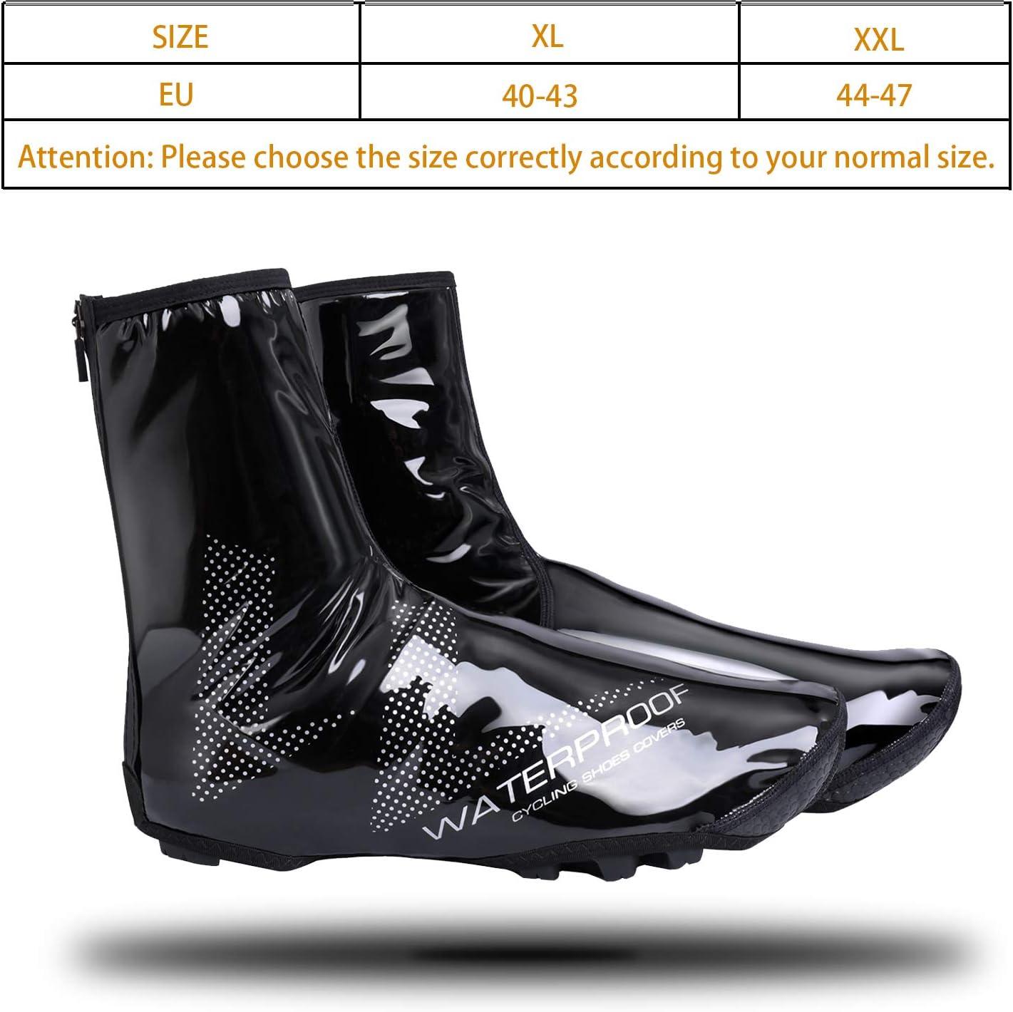 antid/érapantes r/ésistant /à lusure V/élo Surchaussures Couvre Protege Chaussures Couvre Cyclisme Thermique VTT XL Couvre-Chaussures De V/élo Cyclisme /Étanche Couvre Chaussures V/élo Coupe-Vent
