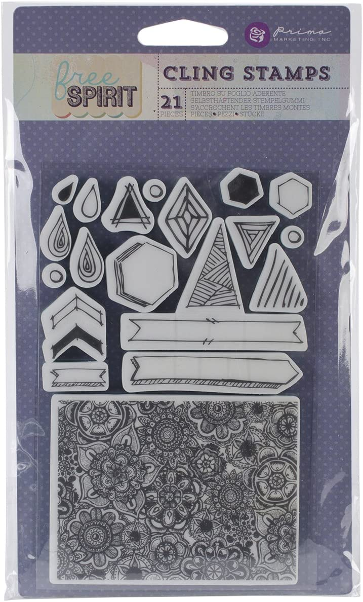 Prima Marketing 573133 Free Spirit Cling Stamps 4 by 6-Inch