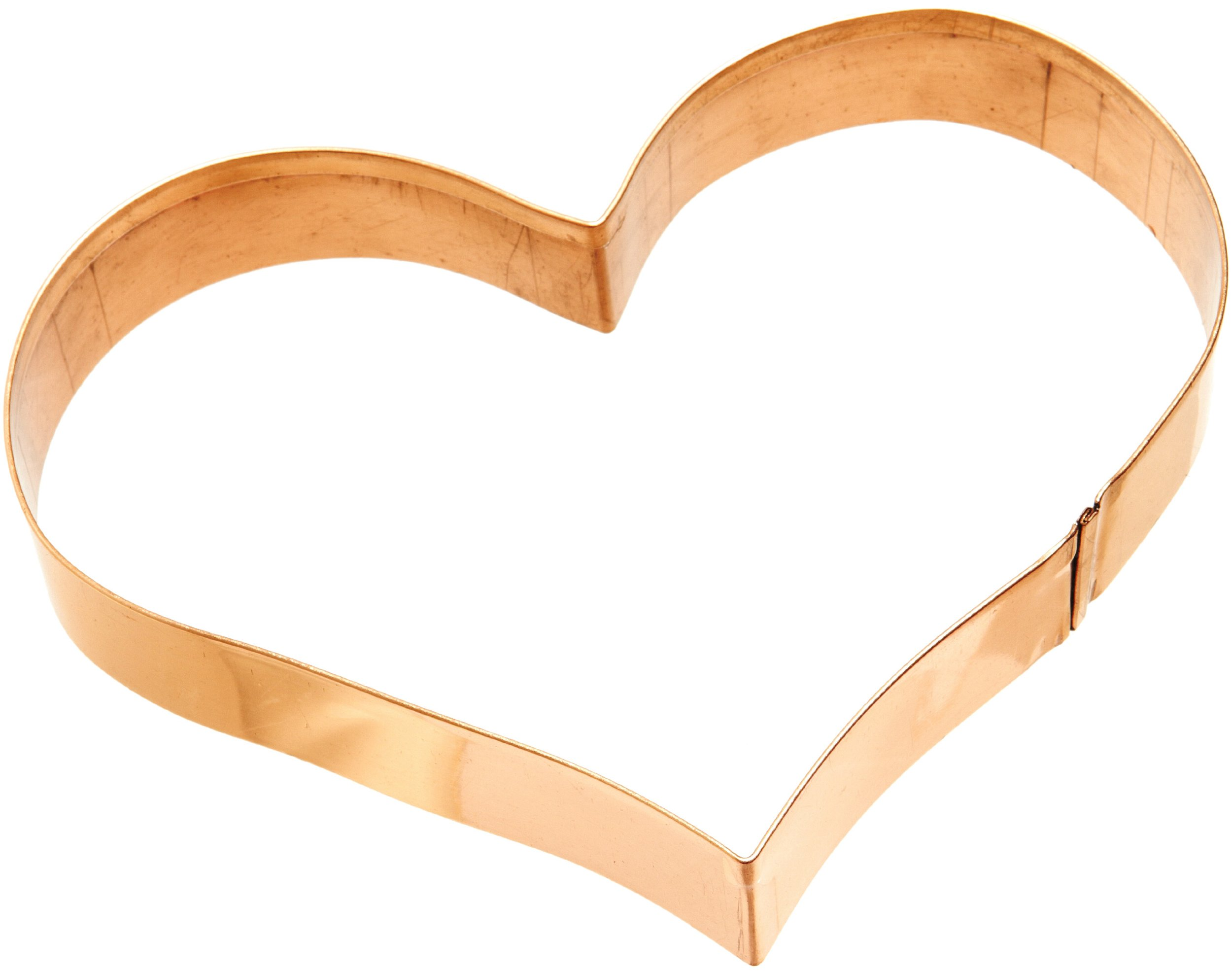 Old River Road Heart Shape Cookie Cutter, Copper