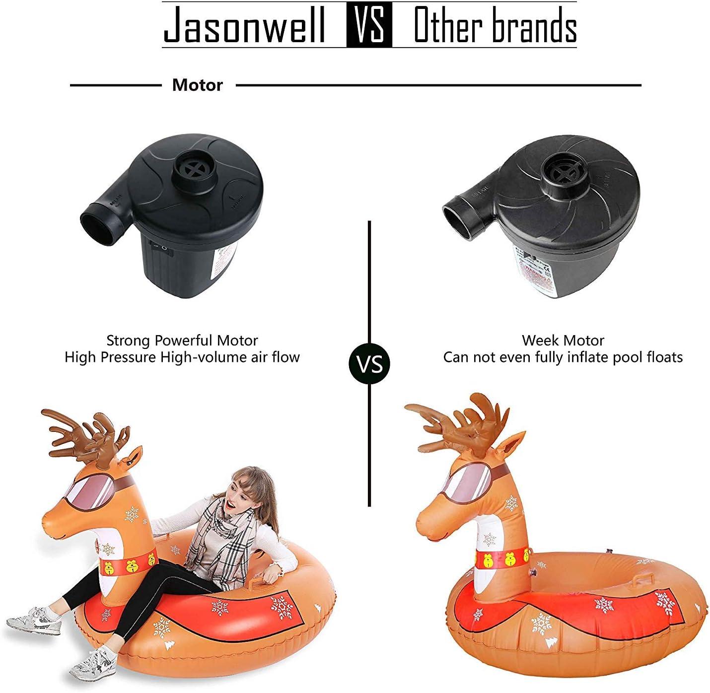 para inflar y aspirar colchones y Objetos inflables com-four/® Bomba de Aire de pie con 2 boquillas de Aire Bomba de Aire con un Volumen de 3 litros