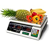 Off White 40kg Kitchen Scales Digital Commercial