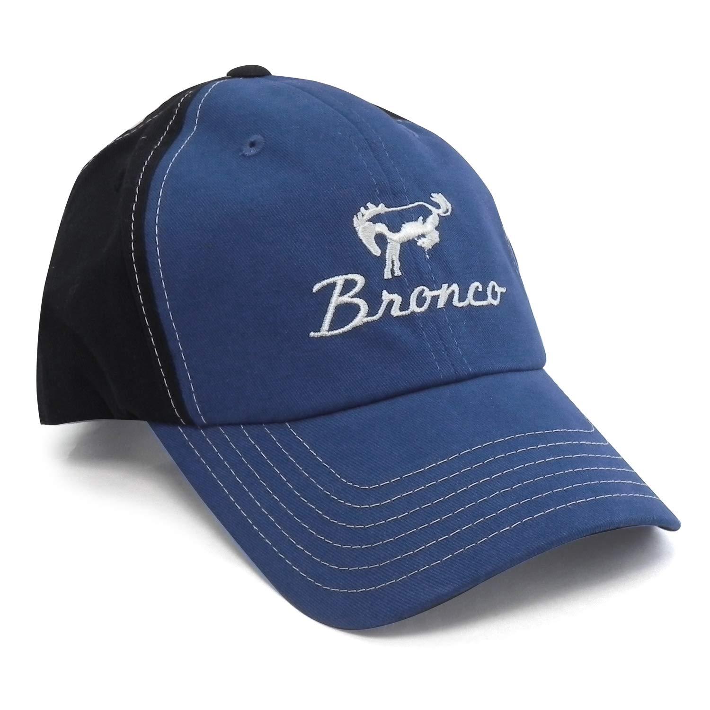 Ford Bronco Blue Black Baseball Cap Checkered Flag Sports