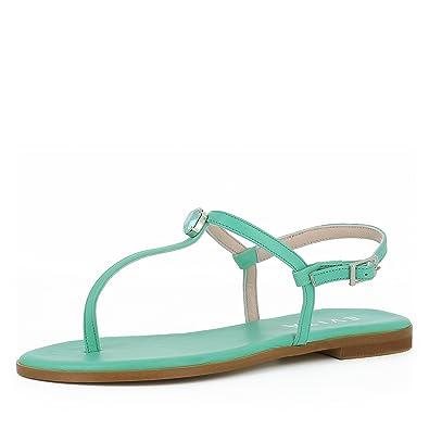 Evita Shoes Olimpia Damen Sandale Glattleder Hellblau 37 mWNpyT