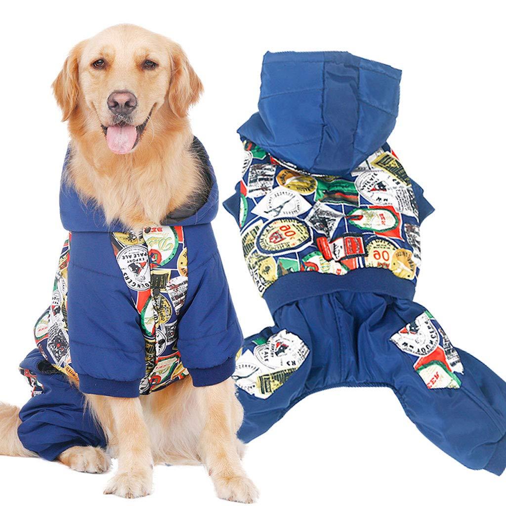 4XL Hooded Dog Sweater Pet Clothing Dog Cat Clothes Pet Clothing Warm Hooded Winter Warm (Size   4XL)