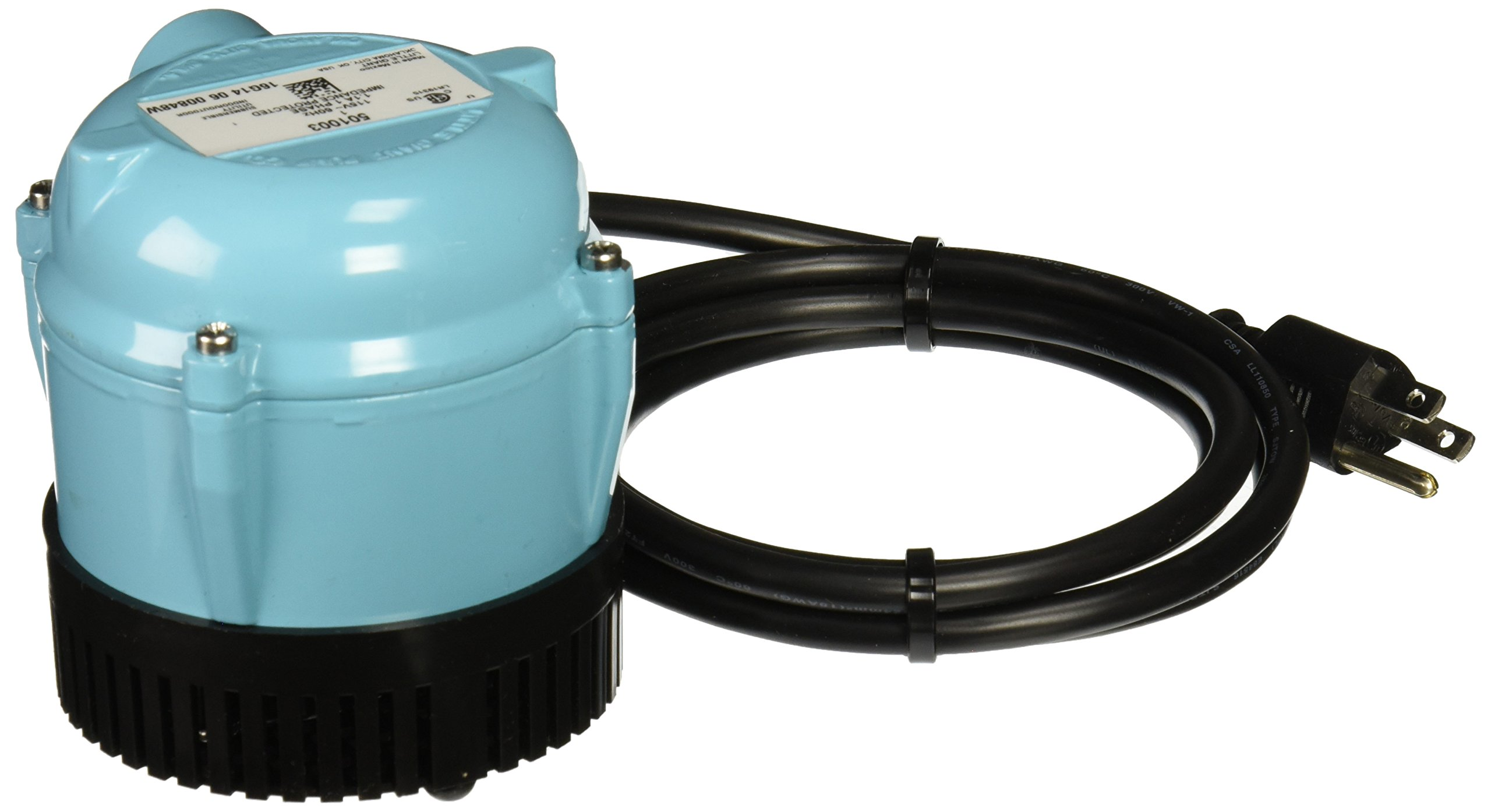 Little Giant 501003 1 115 Volt 205 GPH Oil-Filled Small Submersible Pump by LITTLE GIANT (Image #1)