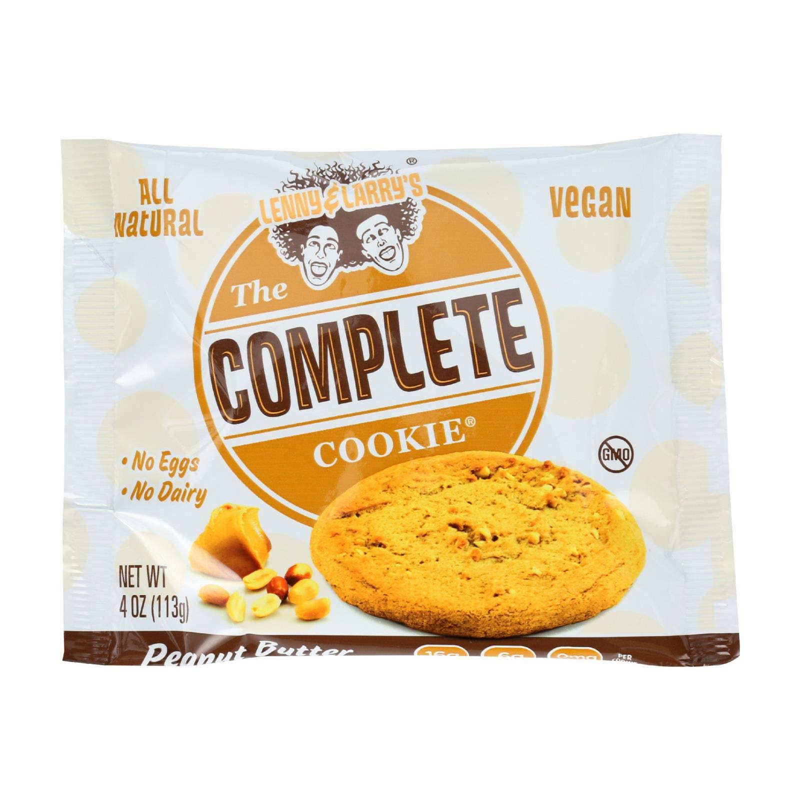Lenny & Larry's The Complete Cookie, Peanut Butter, 4-Ounce Cookies (Pack of 12) by Lenny & Larry's