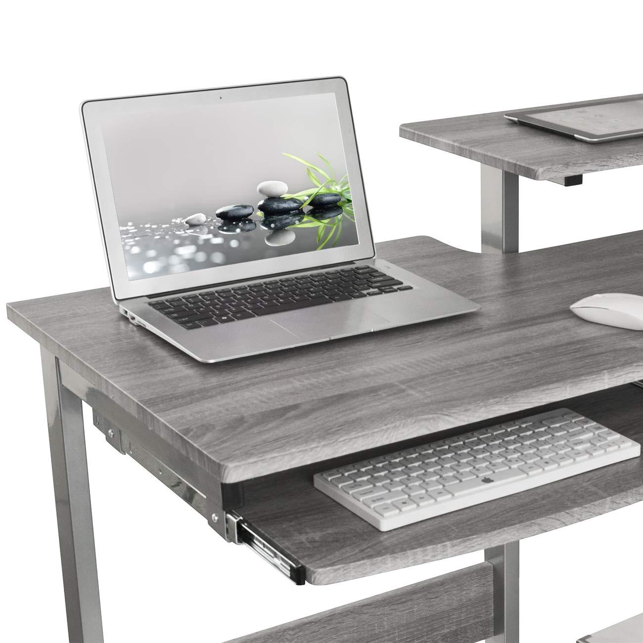 Techni Mobili RTA-2706A-GRY Complete Computer Workstation Desk, Gray by Techni Mobili