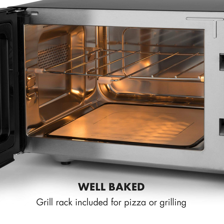 Klarstein Brilliance Roomy - Horno microondas grill, Microondas 2 en 1, Microondas 900W, Grill 1000W, Capacidad 25L, 14 programas, 2 modos combi ...