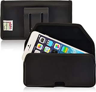 product image for Turtleback Belt Case Compatible with Apple iPhone 6S, iPhone 6 Black Holster Leather Pouch with Heavy Duty Rotating Ratcheting Belt Clip Horizontal Made in USA