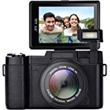 Digital Camera,Vlogging Camera 24MP YouTube Camera with 3.0 Inch 180 Degree Flip Screen Digital Zoom Camera with LED Fill Light