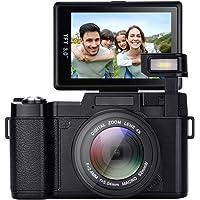 Digital Camera,Vlogging Camera 24MP YouTube Camera with 3.0 Inch 180 Degree Flip Screen Digital Zoom Camera with LED…>