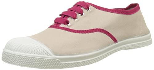 Bensimon Tennis Lacet Gros Grain, Zapatillas para Mujer, (Beige 118), 37 EU: Amazon.es: Zapatos y complementos
