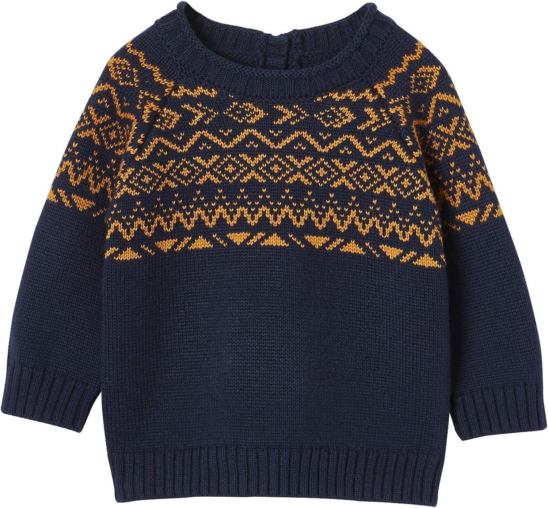 Jungen 0 24 Monate Jacquardstrick Vertbaudet Baby Jungen Pullover Bekleidung Cerocero Mx