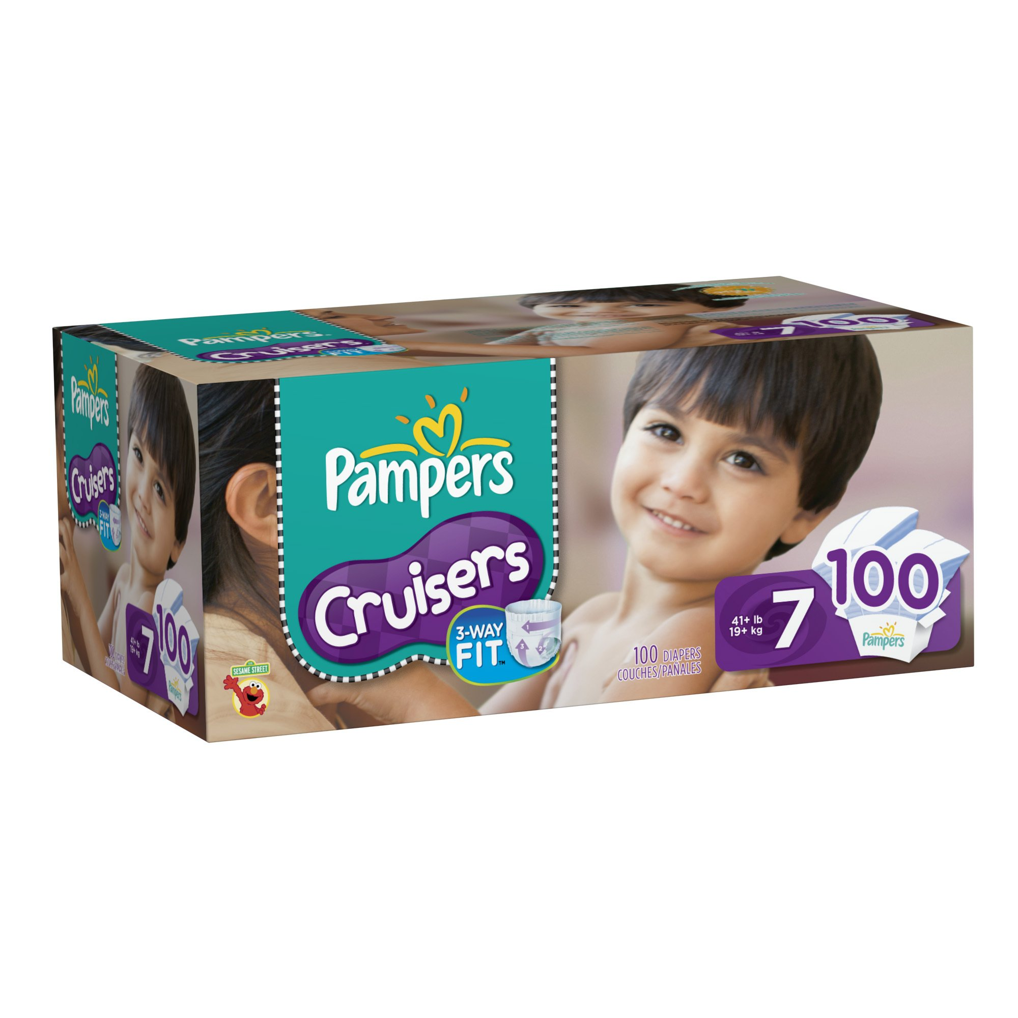 Pampers Cruisers Diapers, Economy Pack Plus, Size 7, 100 Count by Pampers (Image #1)