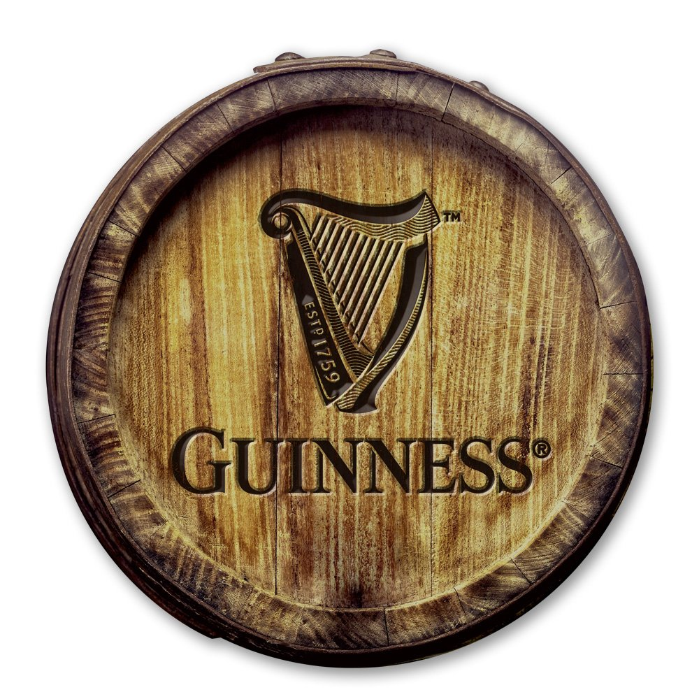 Guinness - Barrel Head MDF Wall Sign Creedence WDS170007