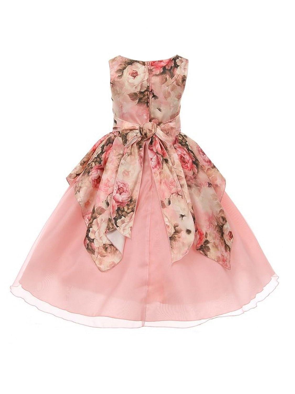 Kiki - Vestido de B07FF9NQ87 organza con estampado floral Kiki para ...