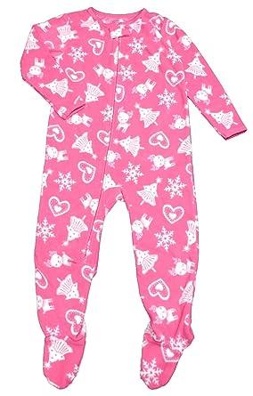 ebc58dd863 Carter s Child of Mine Made Baby Girls  Infant Microfleece Christmas  Blanket Sleeper Pink (24Months