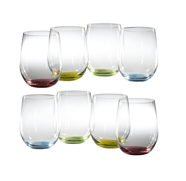 Set of 8 Riedel Happy O Wine Tumblers