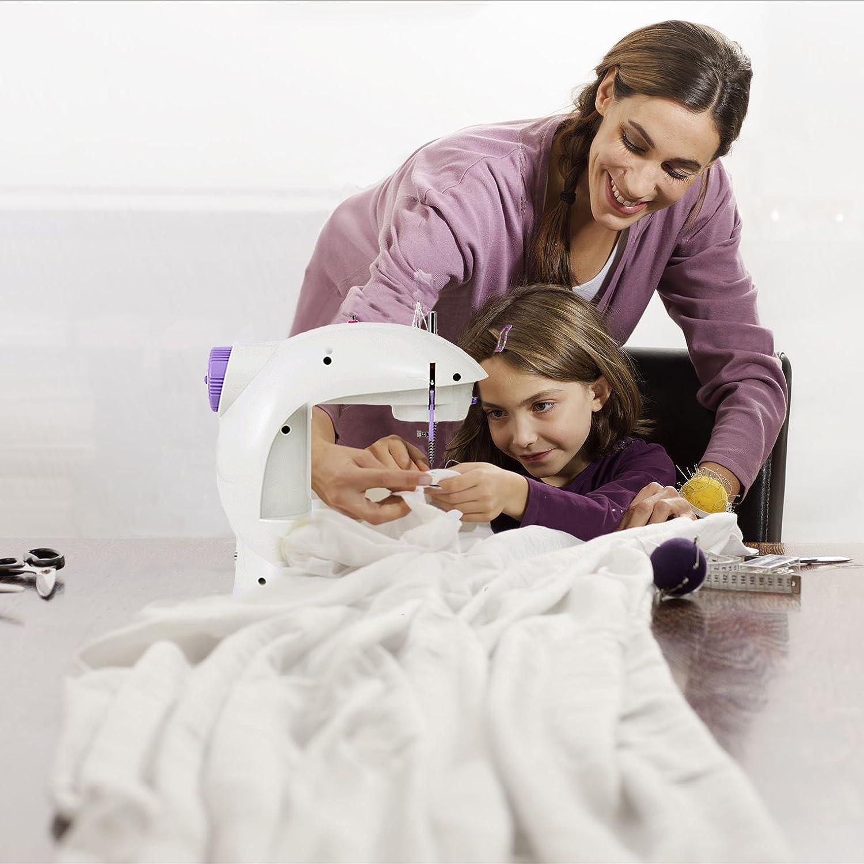 Threader Varmax Mini Sewing Machine Electrical with Foot Pedal Bobbins