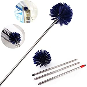 """Cobweb Duster, MEIBEI Removable and Washable Ceiling Fan Duster with Long Handle-72.1"""", Non-Scratch Bristles Cobweb Brush for Cleaning High Ceiling, Book Shelve, Curtain Rod"""
