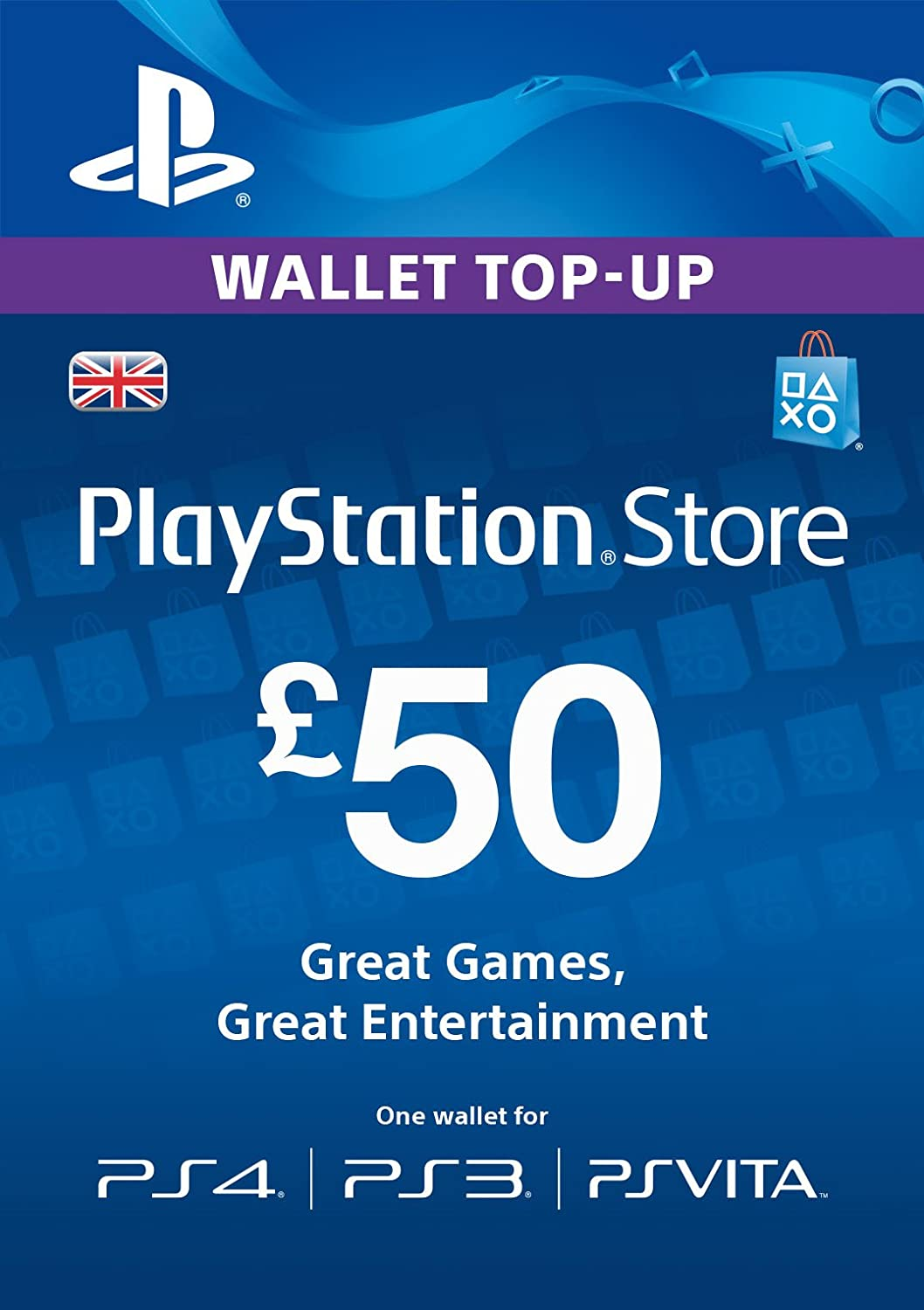 PlayStation PSN Card 50 GBP Wallet Top Up | PSN Download Code - UK ...