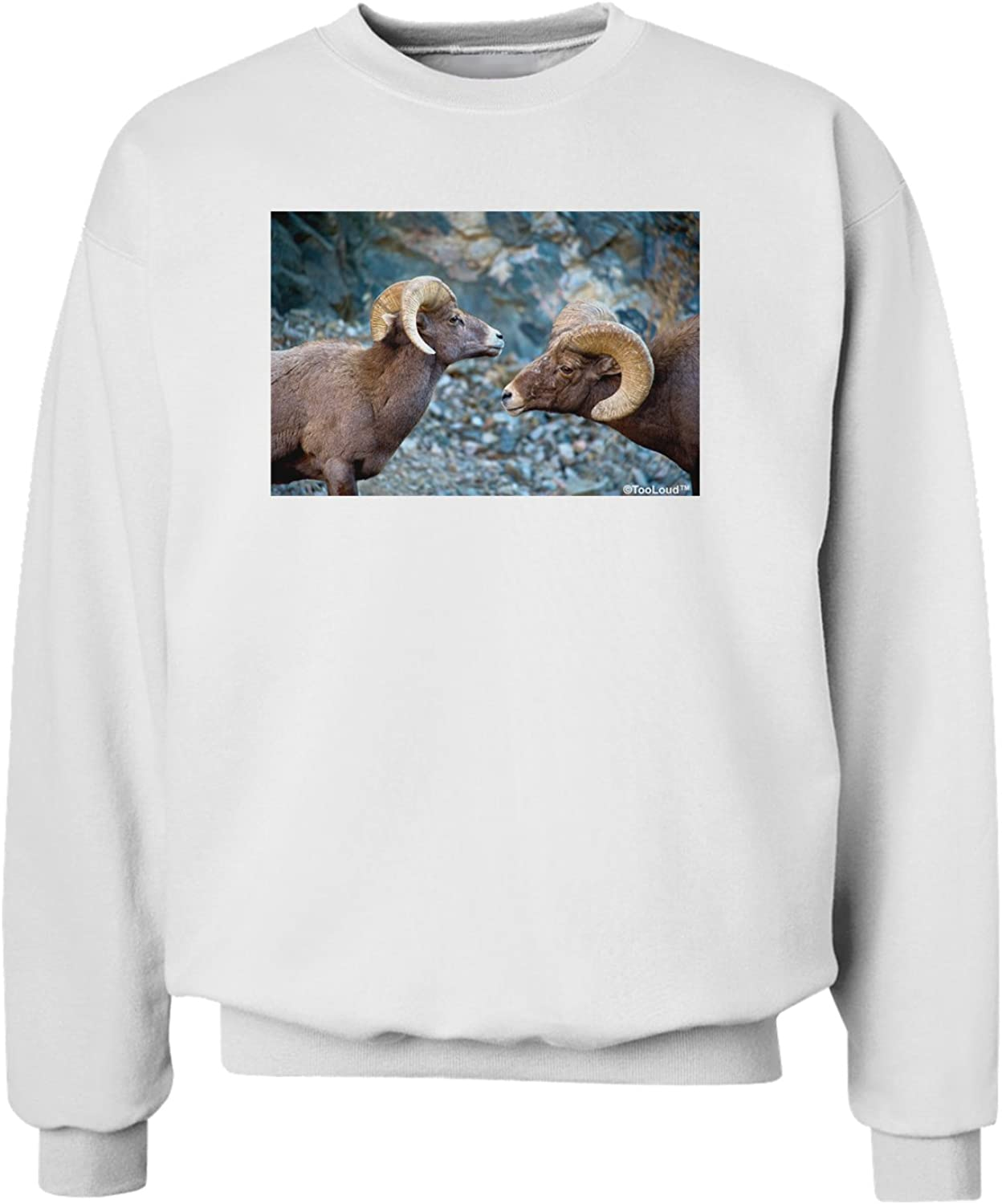 TooLoud Two Bighorn Rams Sweatshirt