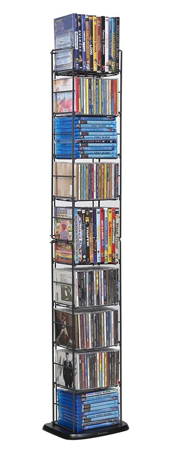 Media Folding Rack 153 Cd Or 72 Dvd Games Multimedia Tower
