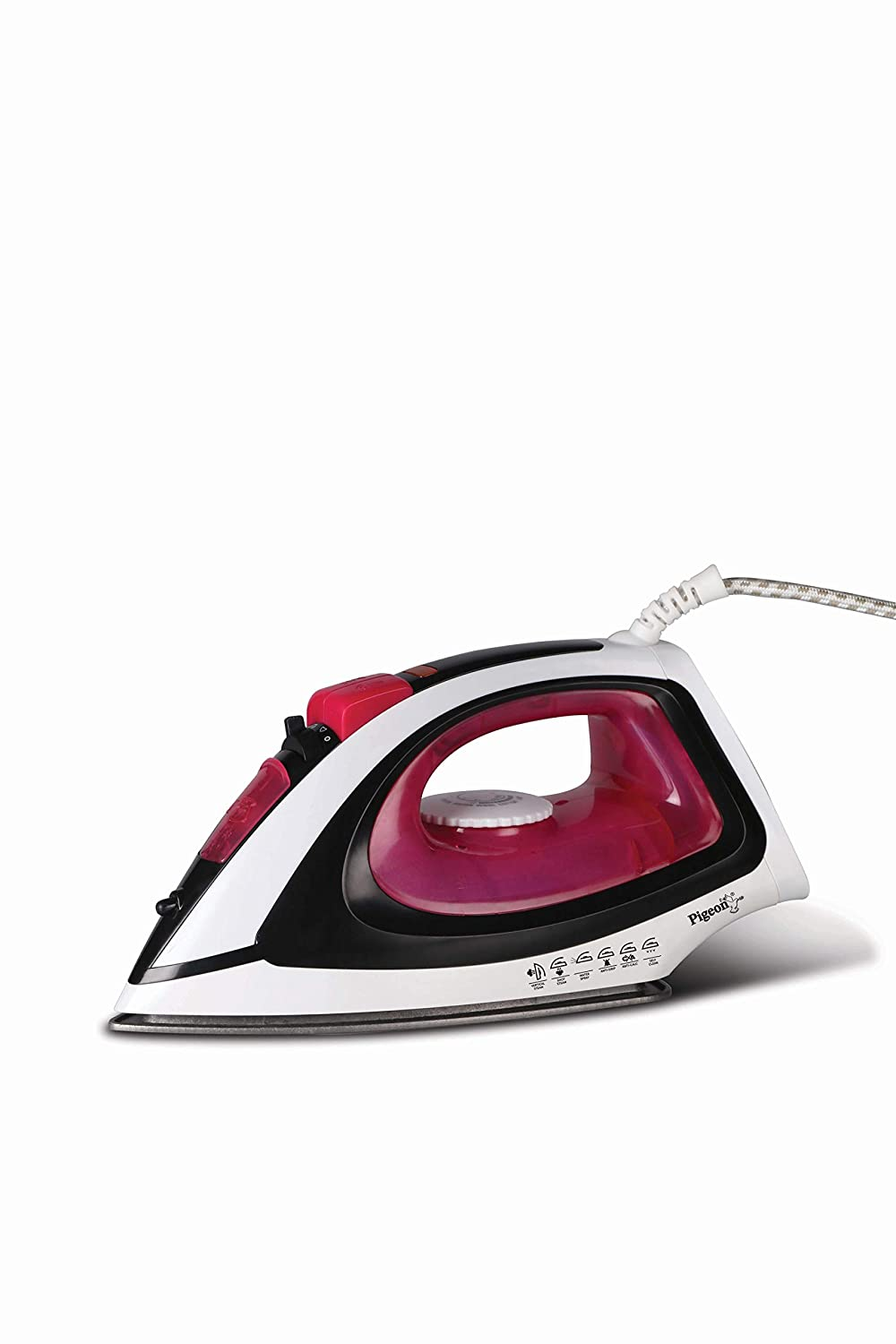 Pigeon by Stovekraft Vigour Max Steam Iron Press Box. Automatic Electric Iron for Wrinkle Free Clothes (1600 Watt)