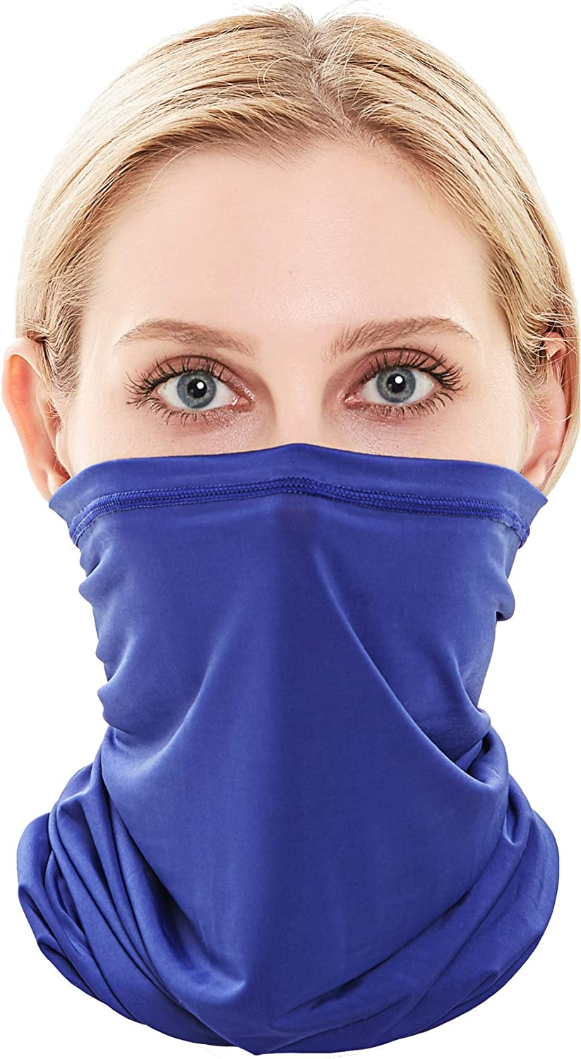 Self Pro Summer Face Mask Protection from Dust, UV & Aerosols - Washable Neck Gaiter Balaclava, Bandana Face Cover UPF50++