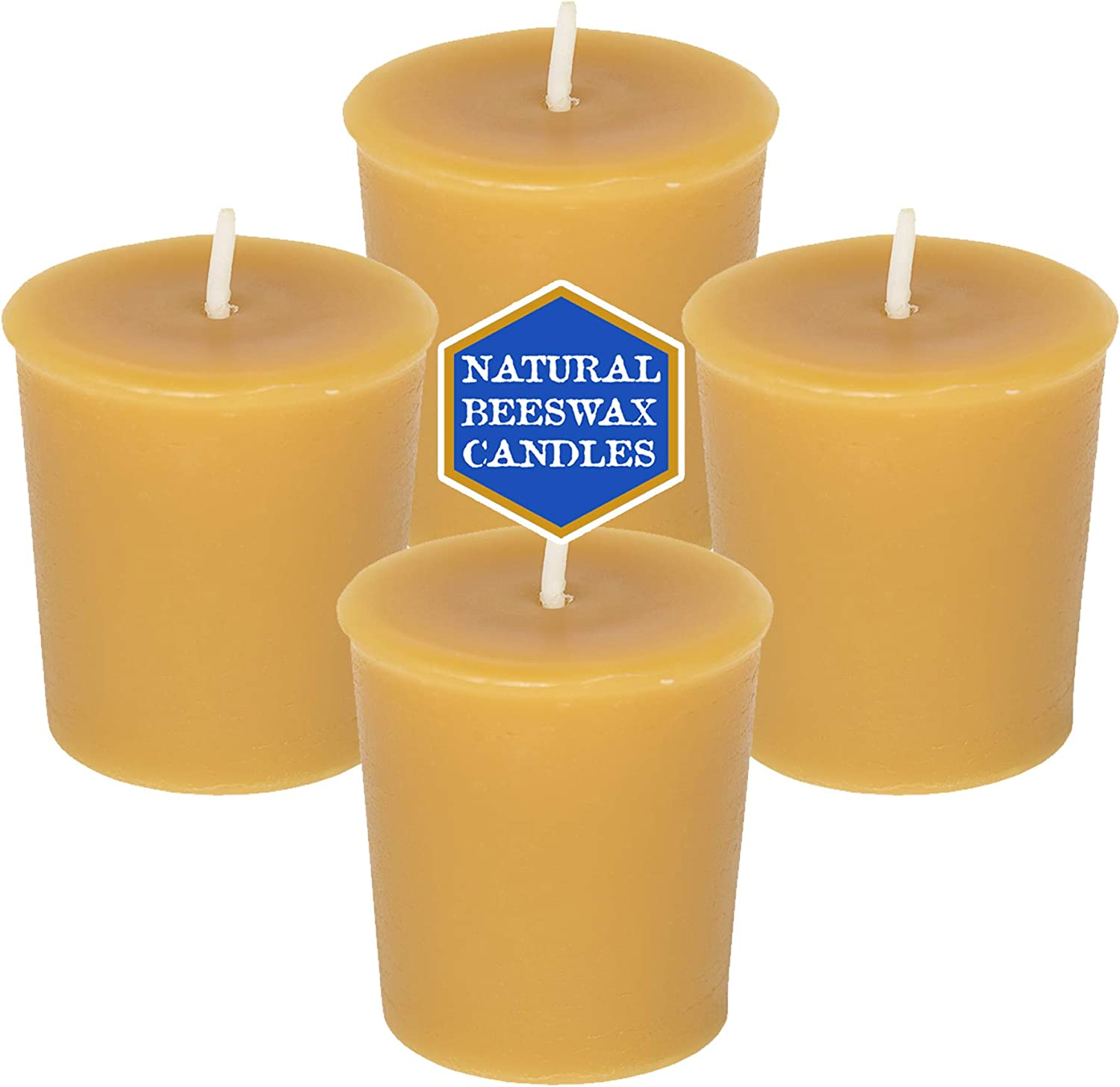 Cotton Wick great gift! Handmade 100/% Beeswax Votive Candles All-Natural 12