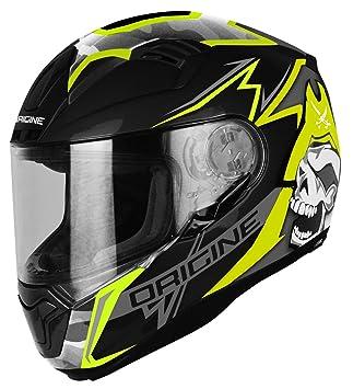 Origine Helmets Casco Moto, Negro/Lima, talla S
