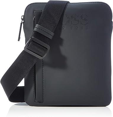 BOSS HUGO Hommes Record LG NS zip Sac reporter en nylon avec finitions dor/ées