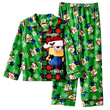 Amazon.com: Despicable Me Boys 2-Piece Green Flannel Minion ...