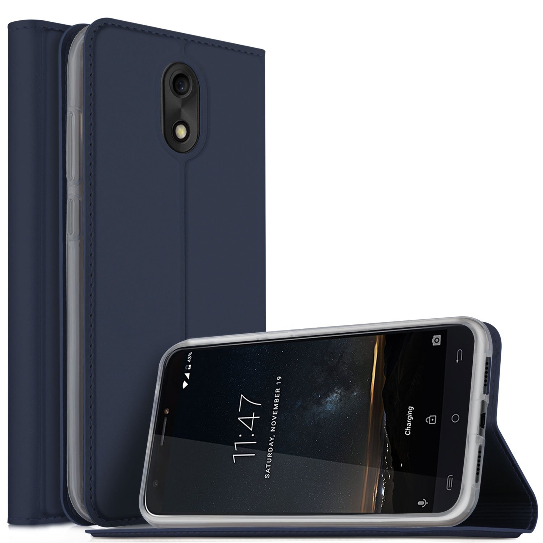 Cubot HAFURY MIX Cover, KuGi Slim Flip Cover Custodia per Cubot HAFURY MIX Smartphone (Flip Series - Nero) XQ STED Update