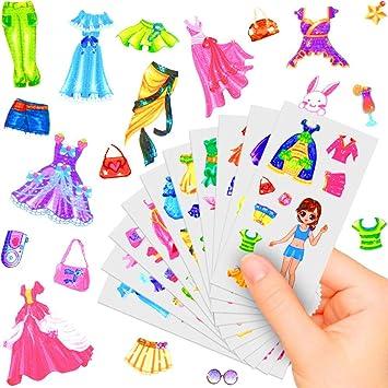 German Trendseller® - 24 Arcos x Pegatinas para niñas ┃Sticker de Moda┃ Fiestas Infantiles┃ Idea de Regalo┃piñata┃cumpleaños de niños