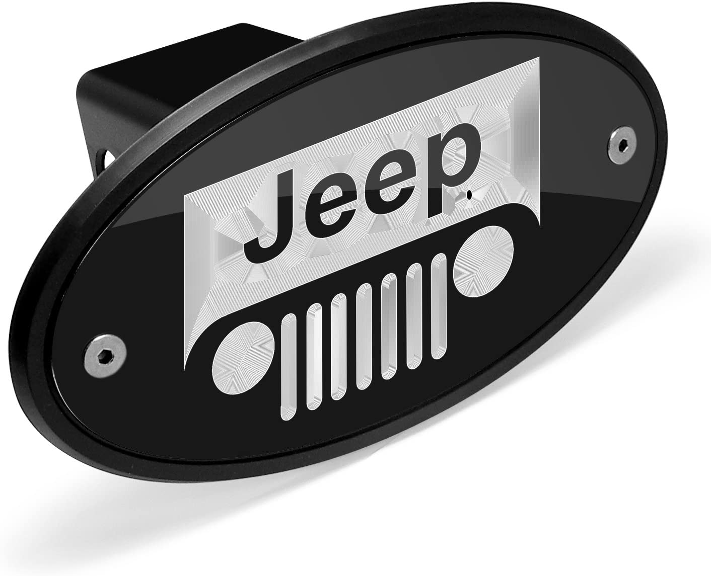"""Jeep Vehicle Logo Metal Hitch Cover 2/"""" Hitch Receivers Stainless Steel"""