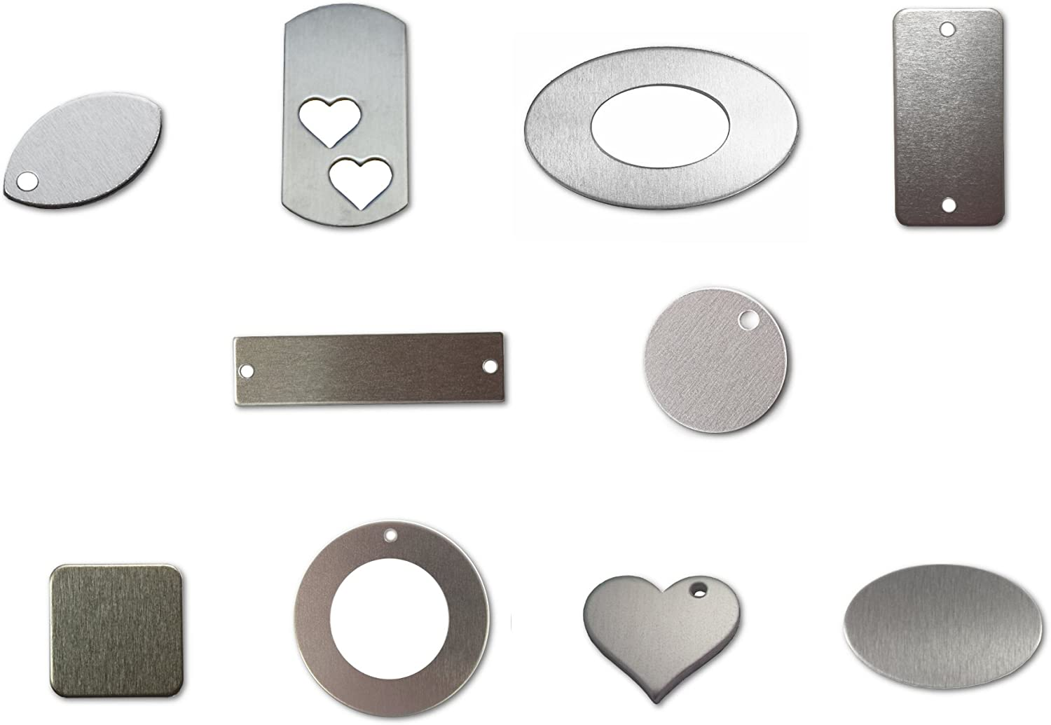 Stainless Steel stamping blanks various shapes /& sizes metal Pack of 5 or 10