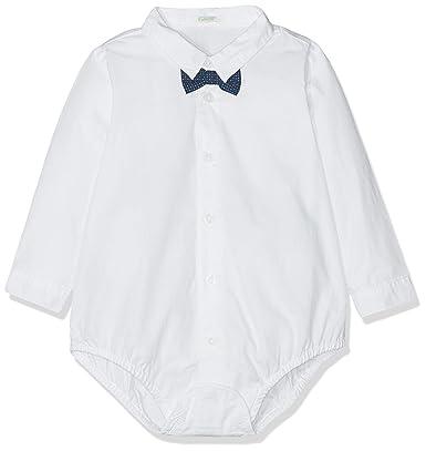 United Colors of Benetton Shirt Camisa, Blanco (Bianco 101), única (Talla del Fabricante: 68) para Bebés: Amazon.es: Ropa y accesorios