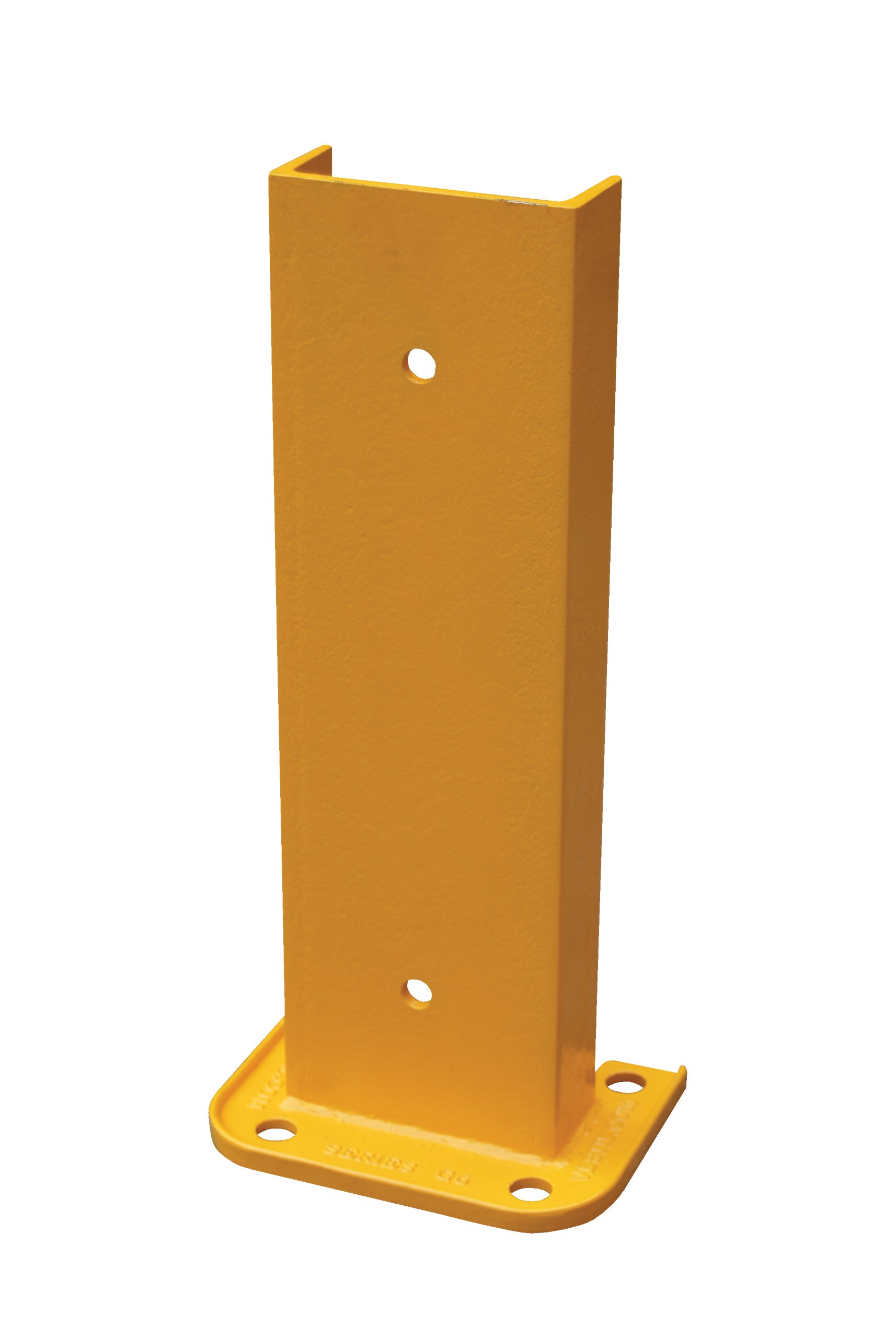 Vestil G6-18 Structural Steel Rack Guard, 4 Mounting Holes, 18-1/4'' Height, Base Measures 8-1/16'' x 6'', Safety Yellow by Vestil