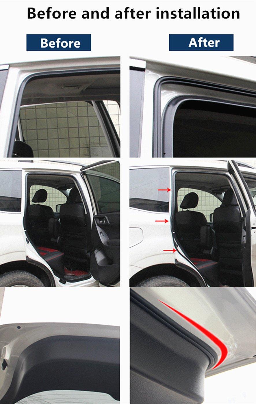 Wdragon Joint en caoutchouc Autoadh/ésif pour fen/être porte moteur Bande de m/ét/éo pour voiture camion 8/m
