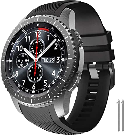 NotoCity Watch Band Compatible with Samsung Gear S3 Frontier/Classic/Galaxy Watch 46mm,Solf Silicone Replacement Band for Gear S3 Frontier/ S3 ...
